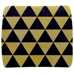 Triangle3 Black Marble & Yellow Watercolor Back Support Cushion