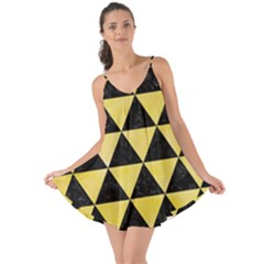Triangle3 Black Marble & Yellow Watercolor Love The Sun Cover Up