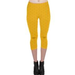 Texture Background Pattern Capri Leggings