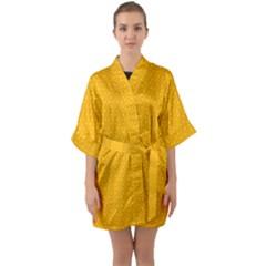 Texture Background Pattern Quarter Sleeve Kimono Robe