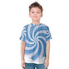 Prismatic Hole Blue Kids  Cotton Tee