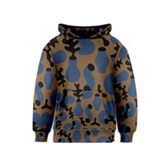 Superfiction Object Blue Black Brown Pattern Kids  Pullover Hoodie