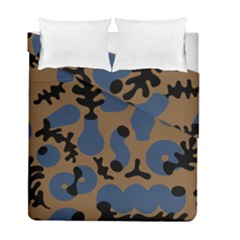 Superfiction Object Blue Black Brown Pattern Duvet Cover Double Side (full/ Double Size)