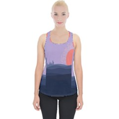 Wedding Lavender Moon Romantic Natural Piece Up Tank Top