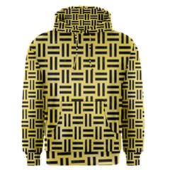 Woven1 Black Marble & Yellow Watercolor Men s Pullover Hoodie