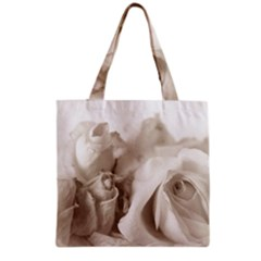Vintage Rose Shabby Chic Background Grocery Tote Bag