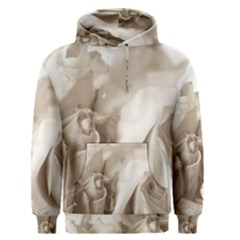 Vintage Rose Shabby Chic Background Men s Pullover Hoodie