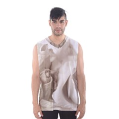 Vintage Rose Shabby Chic Background Men s Basketball Tank Top