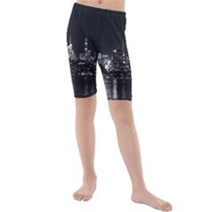 New York Skyline Kids  Mid Length Swim Shorts