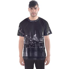 New York Skyline Men s Sports Mesh Tee