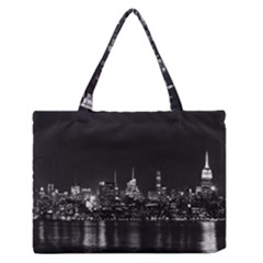New York Skyline Zipper Medium Tote Bag