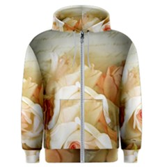 Roses Vintage Playful Romantic Men s Zipper Hoodie