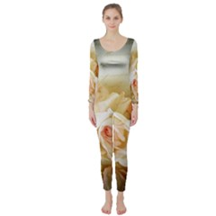 Roses Vintage Playful Romantic Long Sleeve Catsuit
