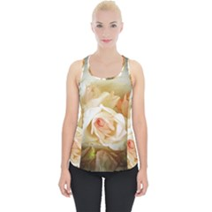 Roses Vintage Playful Romantic Piece Up Tank Top