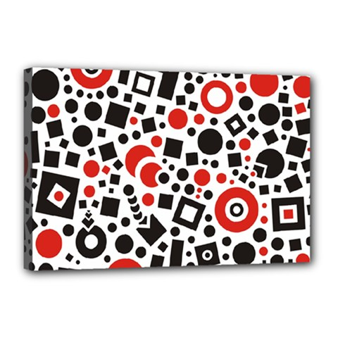 Square Objects Future Modern Canvas 18  X 12