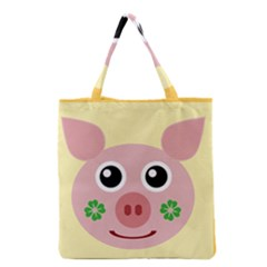 Luck Lucky Pig Pig Lucky Charm Grocery Tote Bag