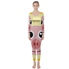 Luck Lucky Pig Pig Lucky Charm Long Sleeve Catsuit
