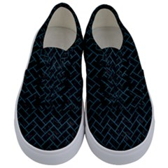 Brick2 Black Marble & Teal Leather (r) Kids  Classic Low Top Sneakers