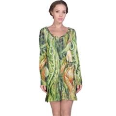 Chung Chao Yi Automatic Drawing Long Sleeve Nightdress