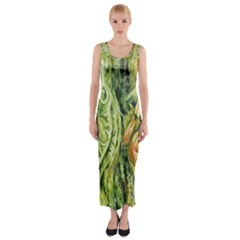 Chung Chao Yi Automatic Drawing Fitted Maxi Dress