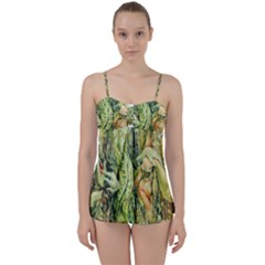 Chung Chao Yi Automatic Drawing Babydoll Tankini Set