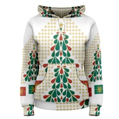 Christmas Tree Present House Star Women s Pullover Hoodie
