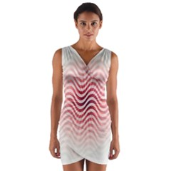 Art Abstract Art Abstract Wrap Front Bodycon Dress