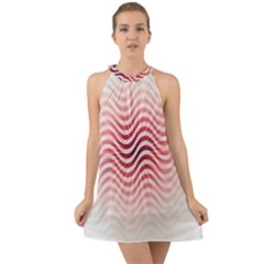 Art Abstract Art Abstract Halter Tie Back Chiffon Dress