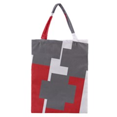 Cross Abstract Shape Line Classic Tote Bag