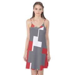 Cross Abstract Shape Line Camis Nightgown