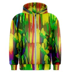 Abstract Vibrant Colour Botany Men s Zipper Hoodie