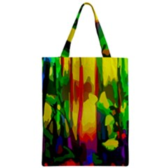 Abstract Vibrant Colour Botany Zipper Classic Tote Bag
