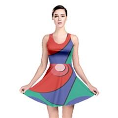 Clipart Portrait Illustration Reversible Skater Dress