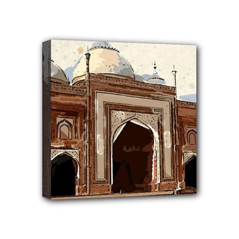 Agra Taj Mahal India Palace Mini Canvas 4  X 4