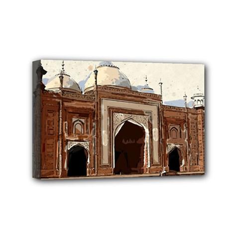 Agra Taj Mahal India Palace Mini Canvas 6  X 4