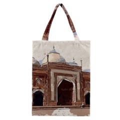 Agra Taj Mahal India Palace Classic Tote Bag