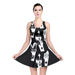 Kiss Band Logo Reversible Skater Dress