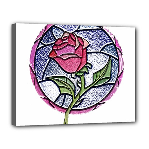 Beauty And The Beast Rose Canvas 14  X 11