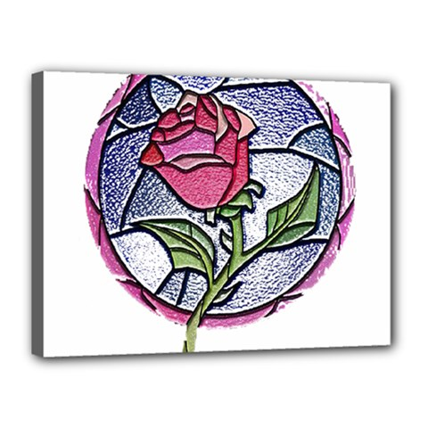Beauty And The Beast Rose Canvas 16  X 12