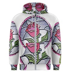 Beauty And The Beast Rose Men s Zipper Hoodie