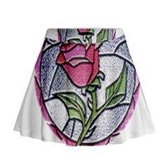 Beauty And The Beast Rose Mini Flare Skirt