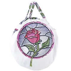 Beauty And The Beast Rose Giant Round Zipper Tote