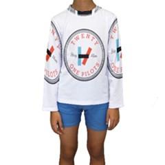 Twenty One Pilots Kids  Long Sleeve Swimwear