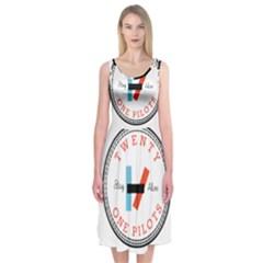 Twenty One Pilots Midi Sleeveless Dress