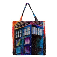 Dr Who Tardis Painting Grocery Tote Bag