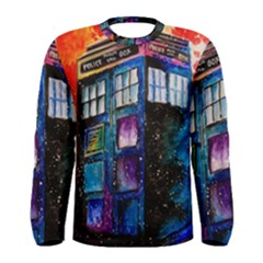 Dr Who Tardis Painting Men s Long Sleeve Tee