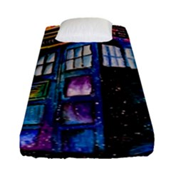Dr Who Tardis Painting Fitted Sheet (single Size)