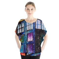 Dr Who Tardis Painting Blouse