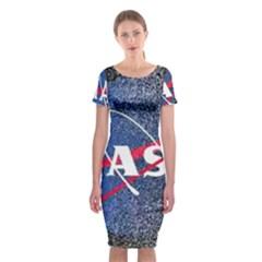 Nasa Logo Classic Short Sleeve Midi Dress