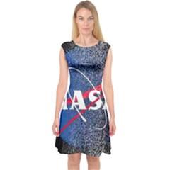 Nasa Logo Capsleeve Midi Dress